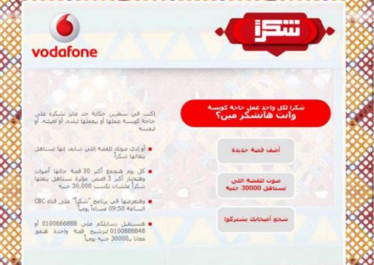 Vodafone Shokran Facebook App